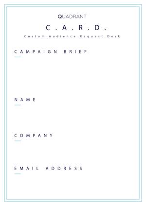 Custom Audience Request Desk Form