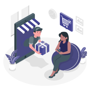 Retail delivery illustration