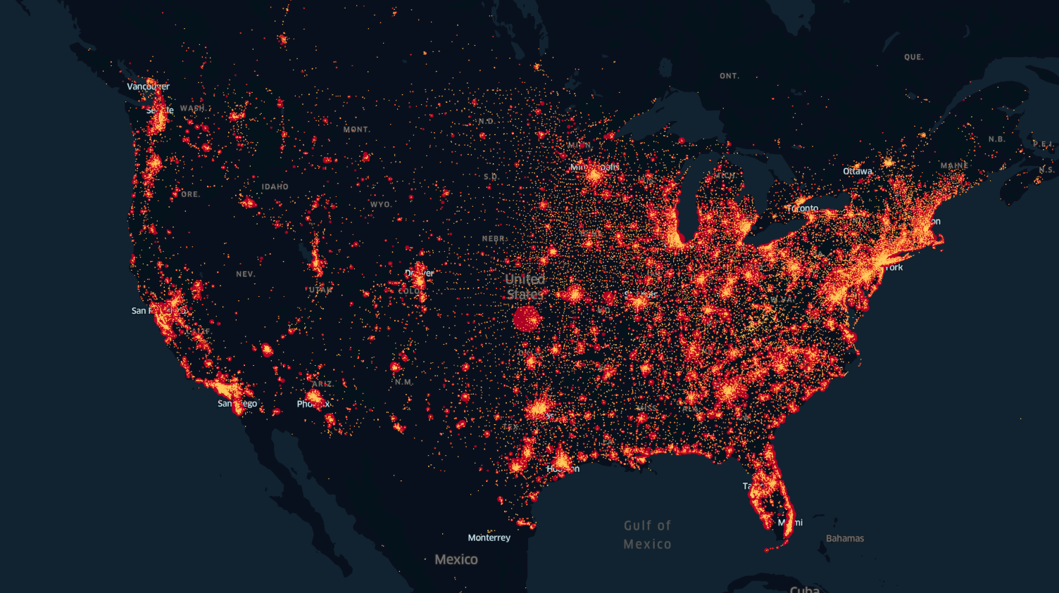 Heatmap of US