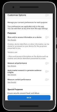 Mobile Consent Management Platform for GDPR Compliance